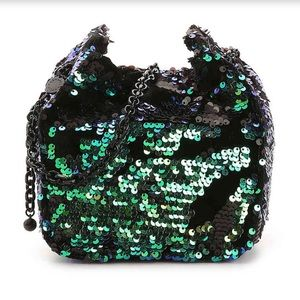 KENDALL + KYLIE Amy Crossbody Sequin Bag, Green